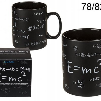 Černý hrnek matematický XXL
