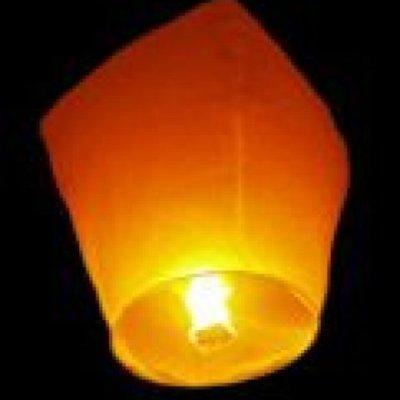 Lampiony přání - 10ti pack - Žluté lampiony