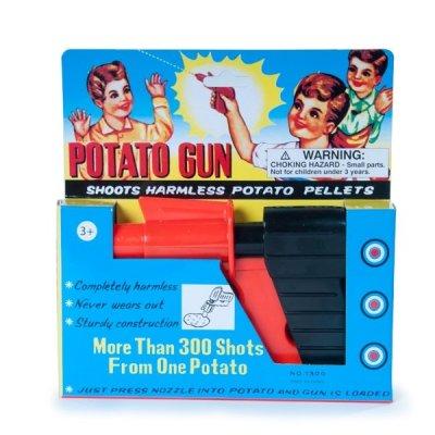 Retro pistole na střílení bramborami
