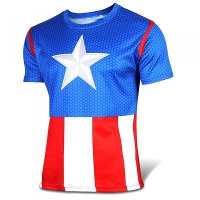Sportovní tričko - Captain America - Velikost - M