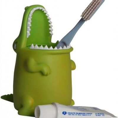 Krokodýlí držák na kartáčky