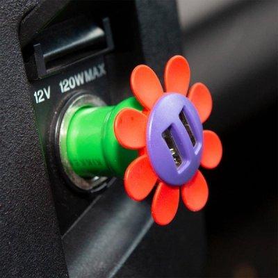 Nabíječka do auta – květina