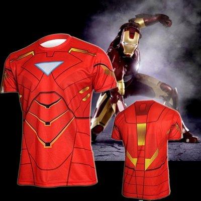 Sportovní tričko - Iron Man - Velikost - L