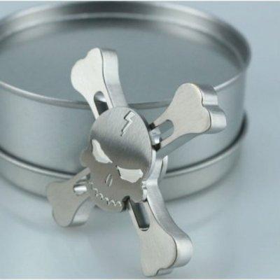 Fidget Spinner Metal SKULL - Silver