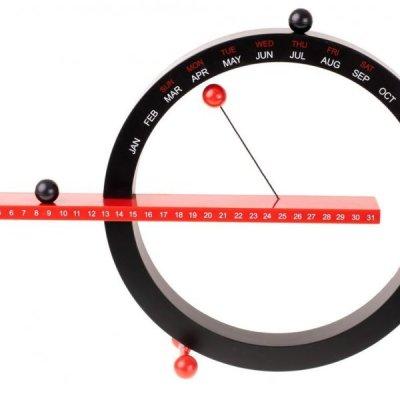 Magnetický věčný kalendář 365 černočervený