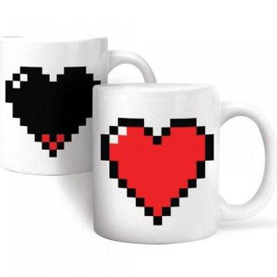 Pixelový hrnek - srdce