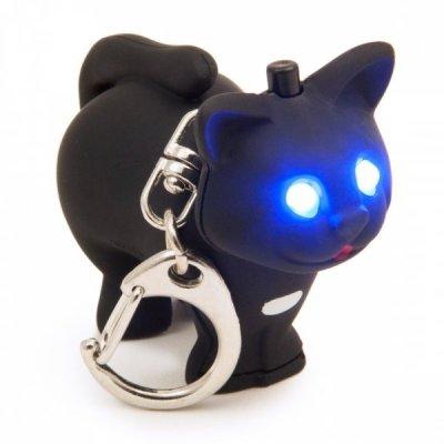 LED klíčenka kočička