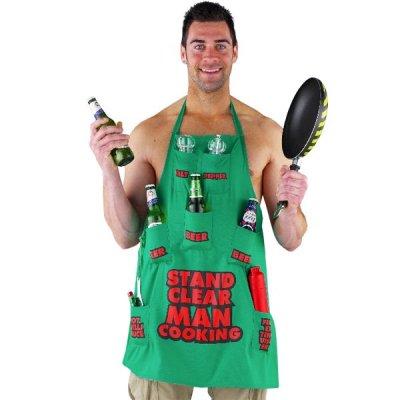 Zástěra - Stand Clear Man Cooking