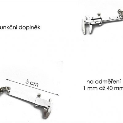Přívěšek na klíče - šuplera
