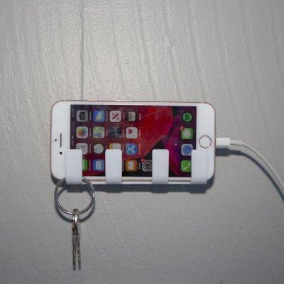 Nástěnný držák telefonu