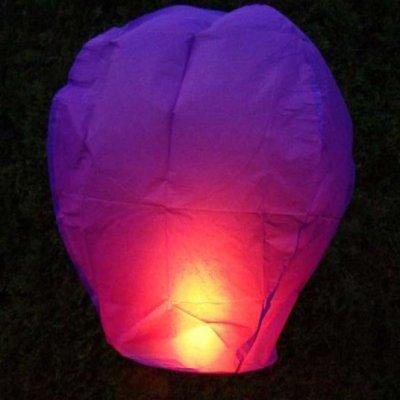 Lampiony přání - 10ti pack - Fialové lampiony