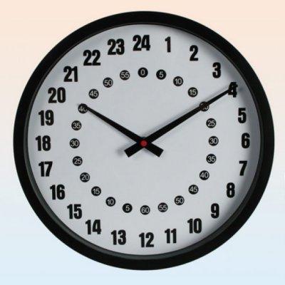 24-hodinové závěsné hodiny