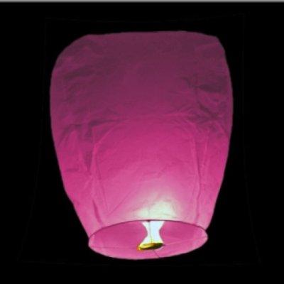 Lampiony přání - 10ti pack - Růžové lampiony
