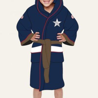Dětský župan - Kapitán Amerika (univerzální pro děti 7-9)