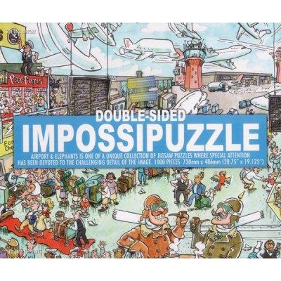 Oboustranné Puzzle - Letiště a Sloni