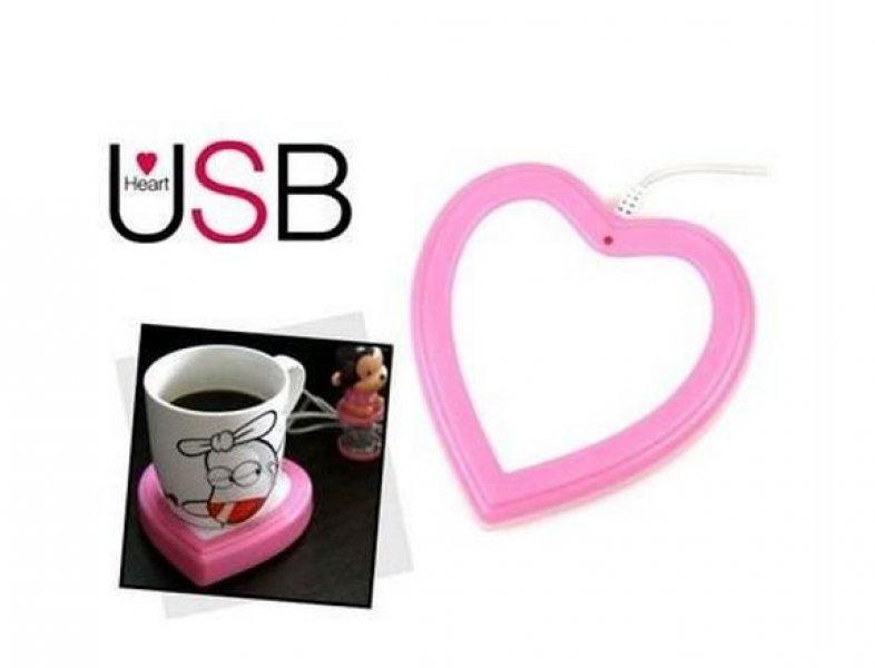 USB ohřívač nápojů Srdce