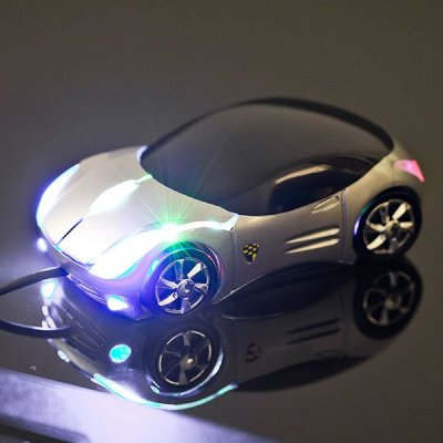 Počítačová myš - auto - stříbrná