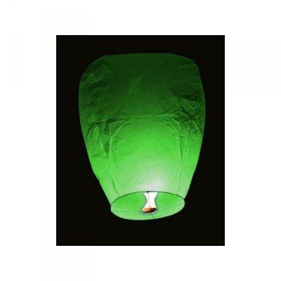 Lampiony přání - 10ti pack - Zelené lampiony